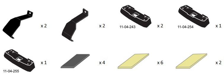 Whispbar Prorack Fitting Kit K652 Toyota Aurion Camry